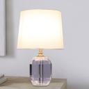 Oblong Task Lighting Modernist Beveled Crystal 1 Bulb White Reading Lamp, 11