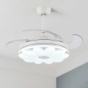 Modern Flower Pendant Fan Lamp LED 42