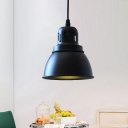 Metal Black Down Lighting Dome 1 Bulb 6
