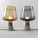 Cup Desk Light Modernism Smoke/Amber Glass 8