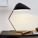 Wide Flare Nightstand Lamp Contemporary Metal 1 Head Reading Book Light in Black