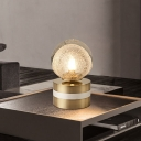 Global Nightstand Lamp Contemporary Water Glass 1 Head Brass Task Lighting, 4
