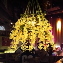 Bloom Restaurant Drop Lamp Industrial Metal 1 Head Black LED Hanging Light Fixture