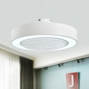 Contemporary Ring Semi Flush Mount Lamp LED 21.5