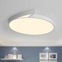 Round Bedroom Flush Lighting Acrylic 18