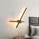 Crossing Linear Sconce Light Fixture Simple Acrylic LED Coffee Wall Mount Lamp for Bedroom