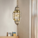 Brass 3 Heads Chandelier Lighting Traditional Metal Lantern Hanging Ceiling Light for Living Room
