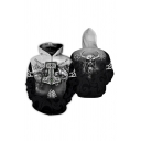 Black Cool Street Long Sleeve Zipper Front Bull Demon King 3D Print FOREVER WE'RE ONE Graphic Zip Up Relaxed Hoodie