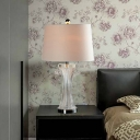 Fabric Tapered Drum Task Lighting Contemporary 1 Bulb Reading Book Light in Black/White