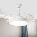 Acrylic Round Pendant Fan Light Modernist Living Room 42