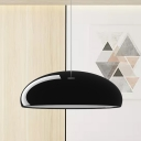 Modernist 1 Head Pendant Light with Aluminum Shade Black Bowl Hanging Ceiling Lamp