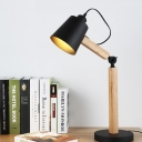 Bell Task Lighting Modernist Metal 1 Bulb Small Desk Lamp in Black/White with Rotating Node
