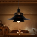 Iron 2-Layer Flared Suspension Light Industrial 1-Light 12.5
