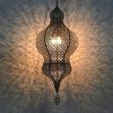 Bronze Gourd Wall Mount Light Decorative Metal 1 Head Restaurant Sconce Lighting Fixture