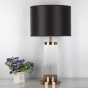Fabric Shaded Task Lighting Modernism 1 Bulb Small Desk Lamp in Gold for Bedroom