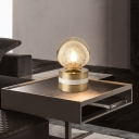 Global Task Light Contemporary Hand-Cut Crystal LED Gold Nightstand Lamp, 8