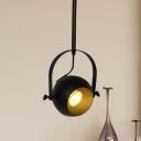 Black Finish Dome Hanging Lighting Art Deco Metal LED Restaurant Pendant Lamp Fixture