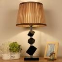 Geometrical Table Light Modernism Beveled Crystal 1 Head Small Desk Lamp in Beige