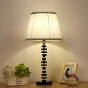 Contemporary 1 Head Task Lighting Blue Wide Flare Reading Lamp with Fabric Shade