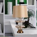 Barrel Fabric Task Lighting Modernism 1 Bulb Yellow Reading Book Light for Study