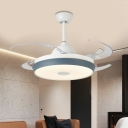 Acrylic Grey Semi Flush Lighting Round 42