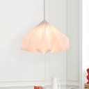 White Sinuous Cone Pendant Light Minimalist 1 Bulb Acrylic Ceiling Hang Fixture for Bedside