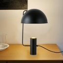 Hemisphere Task Lighting Contemporary Metal 1 Bulb Reading Book Light in Black