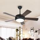 5-Blade Coffee Dome Semi Flushmount Vintage Metallic Bedroom 48