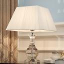 Urn Shape Reading Light Modernism Hand-Cut Crystal 1 Bulb Task Lighting in White