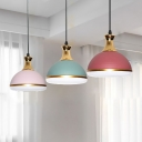 Metal Dome Down Lighting Modern Nordic Style 3 Heads Cluster Pendant Lamp in Black