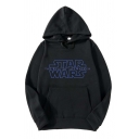 Stylish Star Wars Letter Printed Sport Loose Unisex Pullover Hoodie