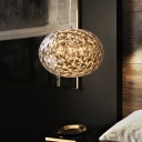 Globe Bedside Ceiling Lighting Acrylic LED Modernism Hanging Lamp Fixture, 10