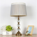 1 Head Spherical Nightstand Lamp Modernist Clear Crystal Reading Book Light in Grey