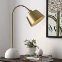 1 Bulb Living Room Task Lighting Modernist Brass Desk Lamp with Bell Metal Shade