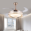 Metal Gold Semi Flush Lighting Round 42