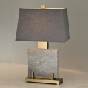Grey Pagoda Small Desk Lamp Modernism 1 Bulb Fabric Task Lighting for Dining Room