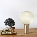 Sphere Desk Lamp Modern Smoke Grey Glass 6