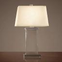 Trapezoid Study Lamp Modern Fabric 1 Bulb 18