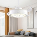 Crystal Flower Ceiling Fan Lighting Modern Living Room 48