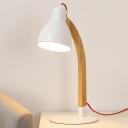 Bowl Task Lighting Modernist Metal 1 Head Small Desk Lamp in White for Living Room