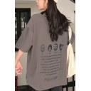 Cool Street Ladies' Short Sleeve Crew Neck FUSEEHO Graphic Long Oversize BF Tee