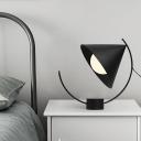 1 Bulb Living Room Task Lighting Modernism Black Reading Book Light with Cone Metal Shade