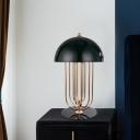 Modernist 1 Head Task Lighting Black Hemisphere Night Table Lamp with Metal Shade