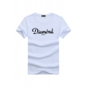 Leisure Boys' Short Sleeve Crew Neck Letter DIAMOND Printed Fitted T-Shirt