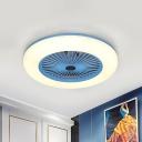 Kids Doughnut Ceiling Fan Lamp 21.5