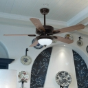 White Textured Glass Dome Fan Light Traditional Living Room 42