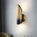 Traditionalism Pointed/Cylinder Wall Mount Lamp 1 Head LED Metal Surface Wall Sconce in Yellow