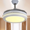 Ring Metal Semi Flush Light Minimalism LED 42