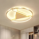 Acrylic 3-Semicircle Flush Lamp Simple 18