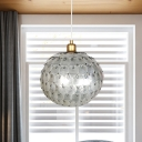 Shell Global Ceiling Pendant Light Modernist 1 Bulb Suspension Lamp in Silver for Bedroom